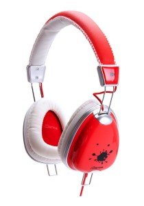 iDance FUNKY 200 DJ Headphone with Mic (Red)