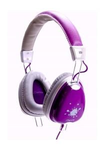 iDance Funky 600 DJ Headphone with Mic (Purple)