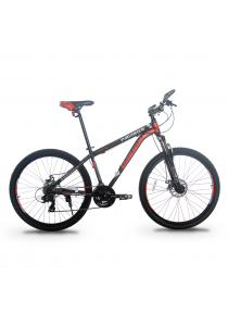 """Garion G275118-BC 27.5"""" / 650b Mountain Bike MTB with 24 Speed (Matte Red)"""