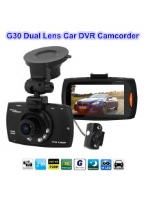 G30 Dual Lens Car DVR Dual Camera Camcoder HD 1080P