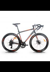 Garion G70016-BC 700C x 23C Alloy Racing / Road Bike with 14 Speed (Matte Grey/Orange)