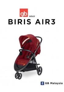 gb BIRIS AIR3 (Dragonfire Red) - Three Wheel Baby Stroller (gb Malaysia Official)