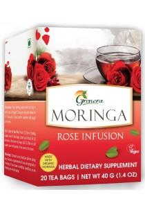 Moringa Rose Infusion 20 Tea Bags Grenera Herbal Dietary Supplementary