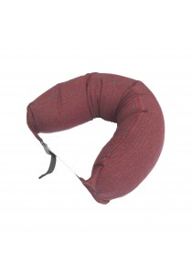 MUJI Well Fitted Neck Cushion Gray Red