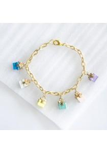 Gift Colourful Charm Gold Bracelet