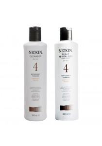Nioxin - 4 Cleanser Shampoo 300ml + Scalp Revitaliser Conditioner (300ml)