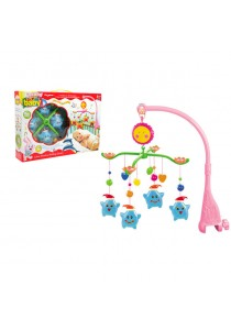 Baby Cot Musical Mobile Baby Toys (Blue Star)
