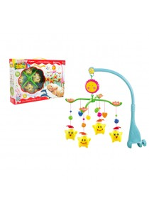 Baby Cot Musical Mobile Baby Toys (Yellow Star)