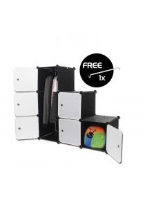 LivingCabinet 6 Cubes Dark Veins DIY Cabinet Wardrobe [Free Hanger]