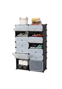 LivingCabinet 14 Cubes Dark Veins DIY Cabinet Multifunctional Wardrobe