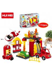 Hui Mei HM061-1 Fire Rescue Story Education Building Bricks (112pcs)
