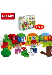 Hui Mei HM136-1 Little Funny Brick Train Building Bricks (57pcs)