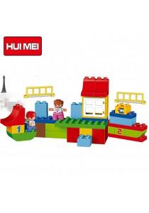 Hui Mei HM139-1 Interesting Learning Paradise Educational Building Bricks (115pc)