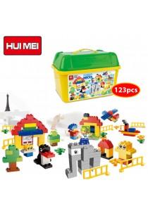 Hui Mei HM169-1 Happy Home Educational Building Bricks (123pcs)