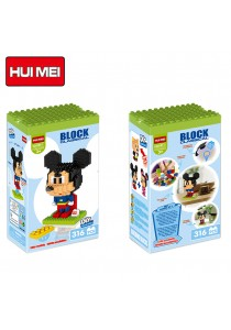 Hui Mei HM197-1 Superman Mickey Mouse DIY Building Blocks Classical (316pcs)