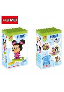 Hui Mei HM198-1 Pink Minnie Mouse DIY Building Blocks Classical (313pcs)