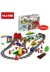 Hui Mei HM315-1 Large High-Speed Railway Emu Passenger Terminal Building Bricks