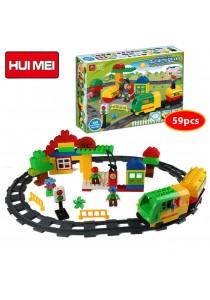 Hui Mei HM326-1 Railway Fuel Truck Series Building Bricks (59pcs)