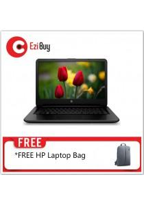 HP 14-AM101TX Notebook (i5-7200U/4GB DDR4/1TB/DVD/Win10/2GB R5-M130/2YR/BP) - Black