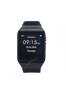 "S18 Smart Watch Phone 1.54"" Capacitive Touch Screen Bluetooth GSM Black"