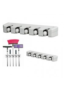 Handy Wall Mount 5-Position Magic Mop & Broom Holder