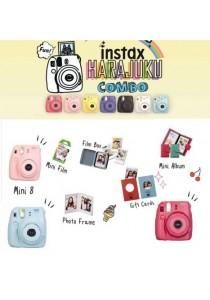 Fujifilm Instax Mini 8 Harajuku Combo Kit (Blue/Pink/Raspberry)