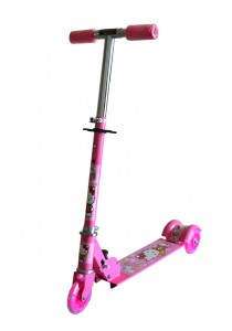 Kid's Adjustable Foldable Scooter - Hello Kitty Pink