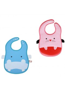 PVC Baby Bib (Wipe-clean quality) - BB04 (Hippo-Mouse)
