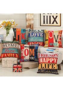 Pillow Case / Cushion Cover, 45cm x 45cm - Family