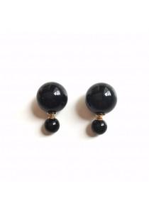 Black Pearl Bauble Earrings