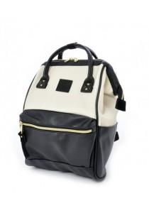 Anello Original Unisex PU Faux Leather Regular Backpack Rucksack Bag (IB)