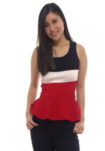 LadiesRoomFashion Knit Peplum Top