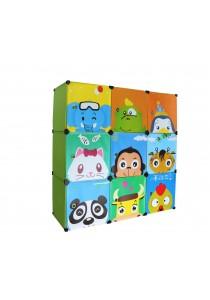 Alpha Living Kids Wardrobe Cabinet 9 Cubes Storage DIY Cabinet with Magnet (LRA0013)