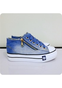 Zipper Jeans Canvas Shoes 0Q630LBU