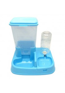 2-in-1 Automatic Pet Feeder And Water - Blue