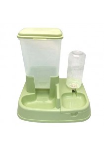 2-in-1 Automatic Pet Feeder And Water - Green