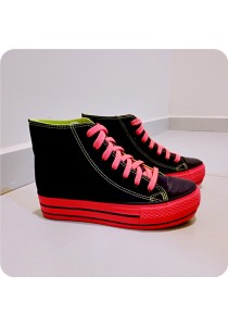 Colourful Highcut Canvas Shoes