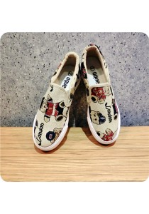 Bear Embroidery Canvas Shoes 06686BR