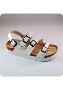 PU Three Straps Sandal 0228WH