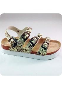 PU Three Straps Sandal 0228GRN