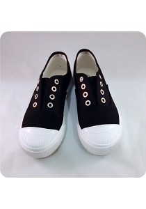 Black Canvas Shoes 0L515BLK
