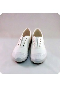 Plain White Canvas Shoes 0L515WH