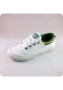 White Canvas Shoes 08830WH