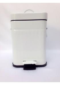 Metal Dustbin 3L White
