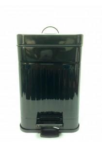 Metal Dustbin 5L Black