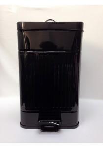 Metal Dustbin 20L Black