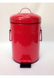 Red Metal Dustbin 3L