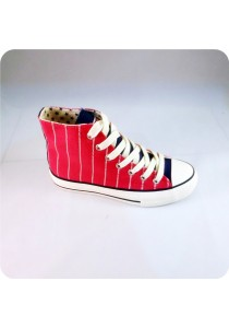 Highcut Canvas Shoes (Red)