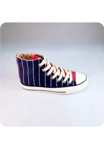 Highcut Canvas Shoes (Blue)