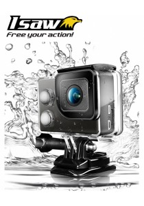 Isaw Edge WIFI 4K Sport Action Camera (Black)